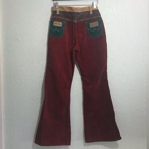 70s vintage PETER MAX x WRANGLER bell bottoms